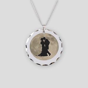 Ballroom Moon Dancers Necklace Circle Charm