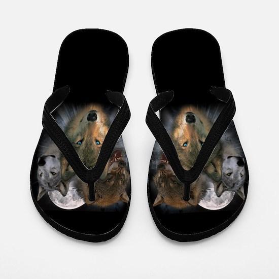 Cute Totem animals Flip Flops