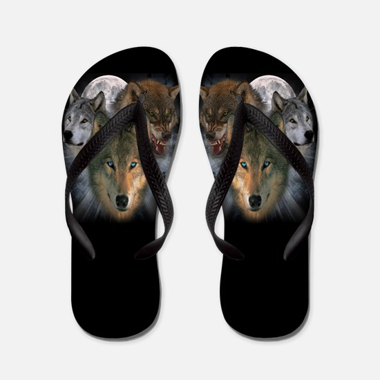 Cute Totem animal Flip Flops