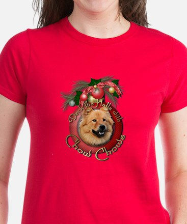Christmas - Deck the Halls - Chows Women's Dark T-