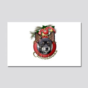 Christmas - Deck the Halls - Chihuahuas Car Magnet