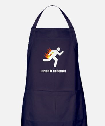 I Tried It At Home Apron (dark)