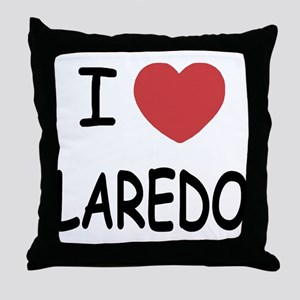 I heart laredo Throw Pillow