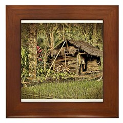 Kabune Work Shack sepia Framed Tile