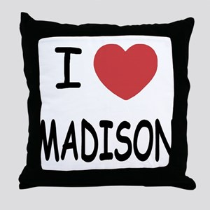 I heart madison Throw Pillow