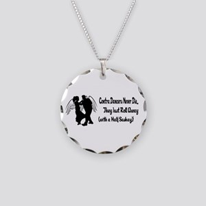 Contra Dancers Never Die Necklace Circle Charm