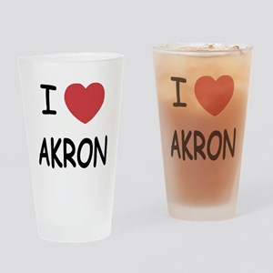 I heart akron Drinking Glass