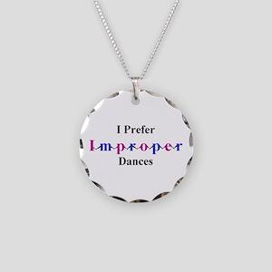 Improper Dances Necklace Circle Charm