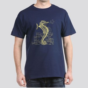 Clockwork seahorse steampunk Dark T-Shirt