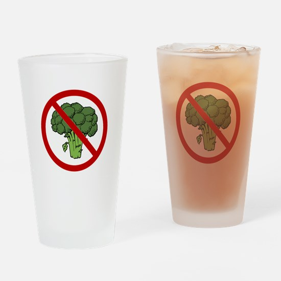 No Broccoli Drinking Glass