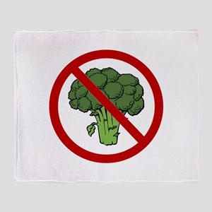 No Broccoli Throw Blanket