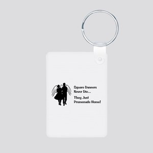 Square Dancers Never Die Aluminum Photo Keychain