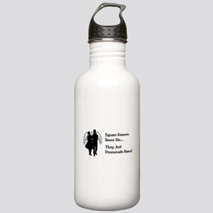 Square Dancers Never Die Stainless Water Bottle 1.