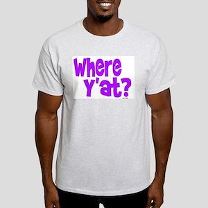 WHERE Y'AT? Ash Grey T-Shirt