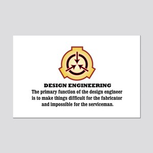 Design Engineering Mini Poster Print