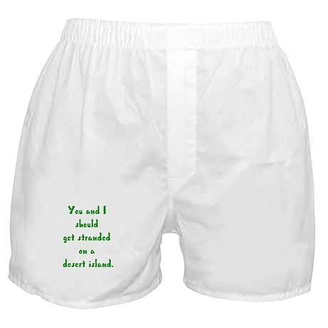 stranded on a desert island Boxer Shorts