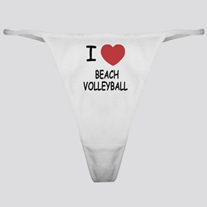I heart beach volleyball Classic Thong
