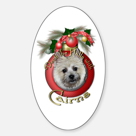 Christmas - Deck the Halls - Cairns Sticker (Oval)