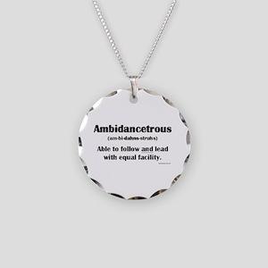 Ambidancetrous Necklace Circle Charm