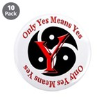 "Only Yes Means Yes in BDSM 3.5"" Button (10 pa"