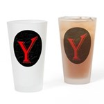 Only Yes Means Yes Y-Circle Drinking Glass