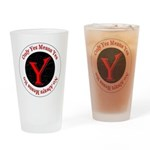 Only Yes Means Yes Drinking Glass
