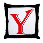 Y - Yes Means Yes Throw Pillow