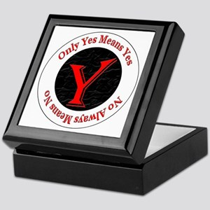 Only Yes Means Yes Keepsake Box
