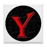 Only Yes Means Yes Y-Circle Tile Coaster