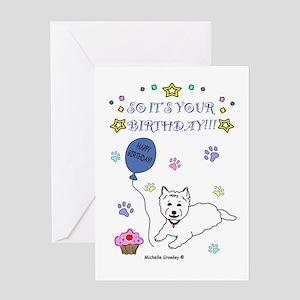 Westie Greeting Card