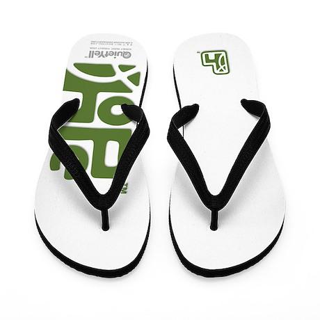 Hope (Green on White) Flip Flops