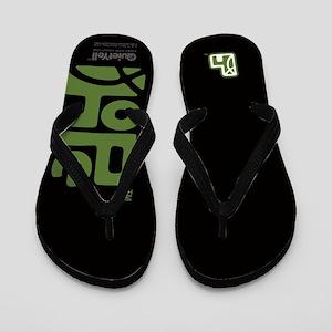 Hope (Green on Black) Flip Flops