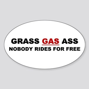 "GRASS ""GAS"" ASS Oval Sticker"