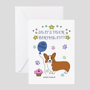 Corgi Greeting Card
