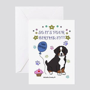 Bernese Mountain Dog Greeting Card