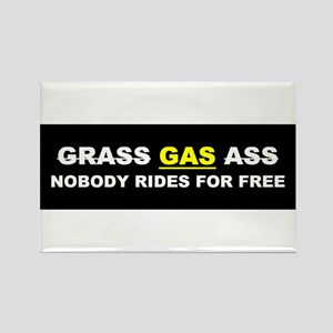 "GRASS ""GAS"" ASS Rectangle Magnet"