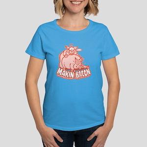Makin Bacon Pigs Women's Dark T-Shirt