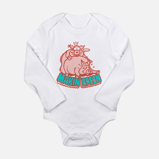 Makin Bacon Pigs Long Sleeve Infant Bodysuit