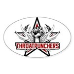 ThroatPunchers Sticker (Oval)