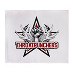 ThroatPunchers Throw Blanket