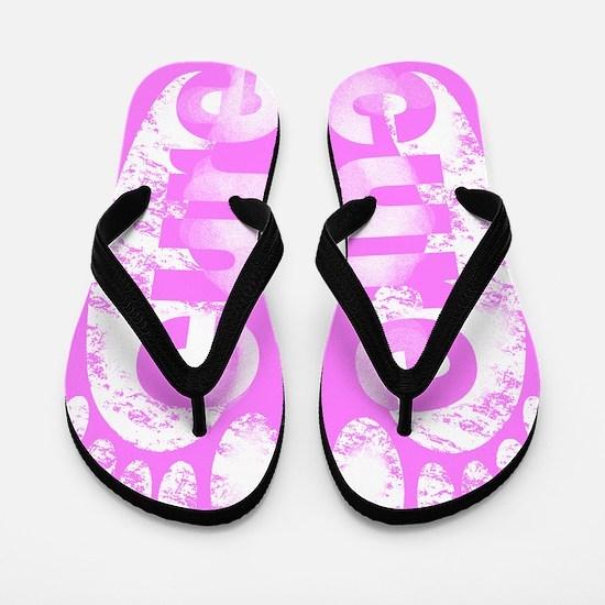 Pink Cure Flip Flops