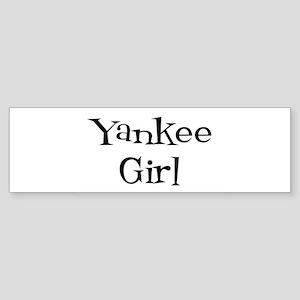 Yankee Girl Bumper Sticker