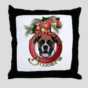 Christmas - Deck the Halls - Boxers Throw Pillow