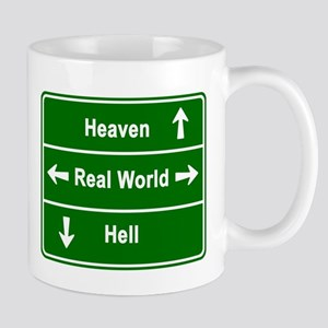 heaven, real world & hell Mug
