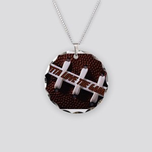 Gotta Love The Game Necklace Circle Charm