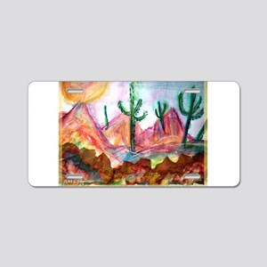Colorful, Desert, art, Aluminum License Plate