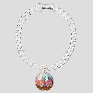 Colorful, Desert, art, Charm Bracelet, One Charm
