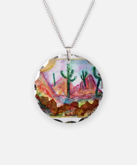 Colorful, Desert, art, Necklace