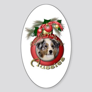 Christmas - Deck the Halls - Aussies Sticker (Oval