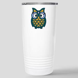 Retro Owl Stainless Steel Travel Mug